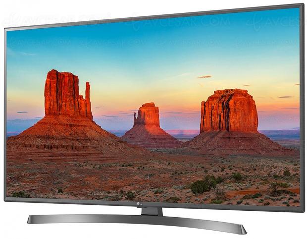 TV LED Ultra HD LG UK6750 : diagonales 43