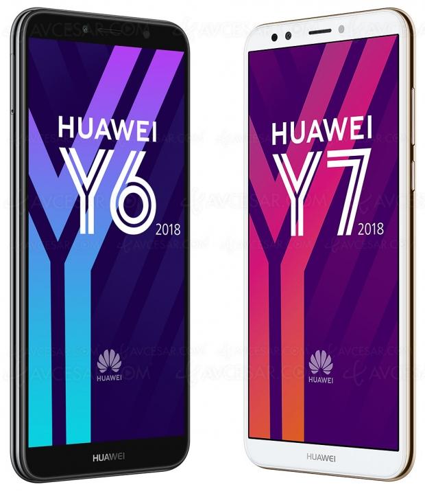 Huawei Y6 et Huawei Y7 version 2018, deux smartphones grand écran accessibles