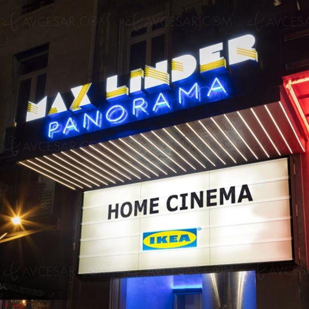 Opération « Home Cinema Ikea » au Max Linder à Paris