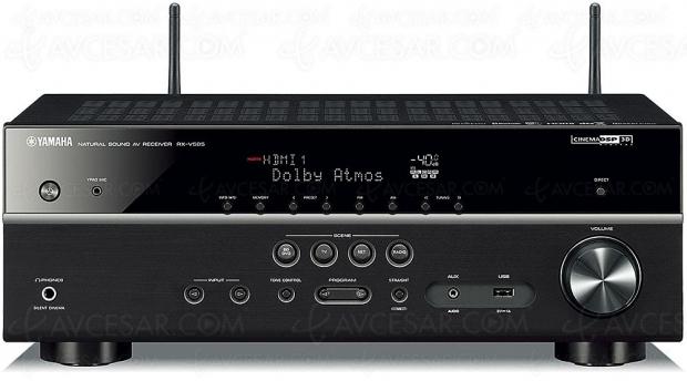 Yamaha RX‑V585, ampli 7.2 Bluetooth, Dac 384 kHz/32 bits, HDMI 2.0b, Upscaling Ultra HD, HDCP 2.2, DSD, Dolby Atmos, DTS:X…