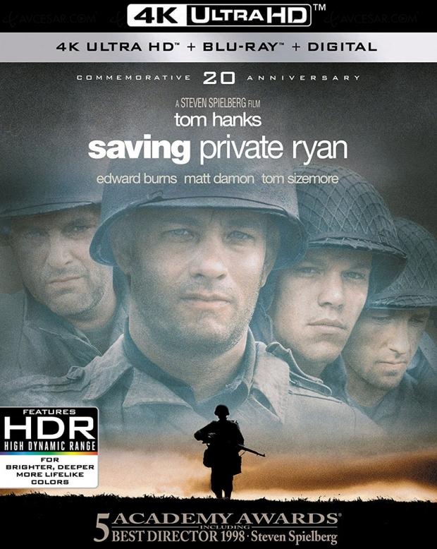 Il faut sauver le soldat Ryan 20e anniversaire, c'est parti pour le 4K Ultra HD Blu-Ray