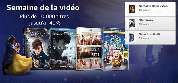 Amazon semaine de la vidéo, 10 000 BD/DVD et séries TV à petit prix, jusqu'à -51%
