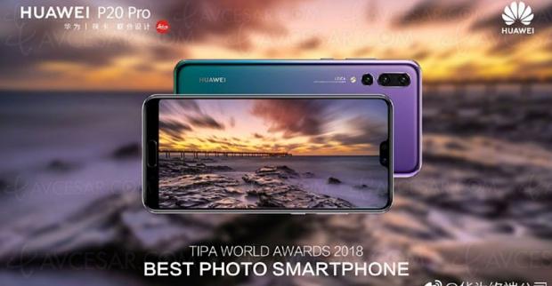 Huawei P20 Pro, élu meilleur smartphone photo de l'année