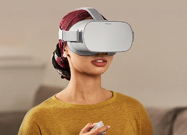 Casque réalité virtuelle (RV) autonome Oculus Go disponible