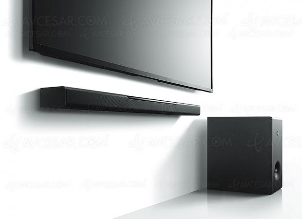 Yamaha MusicCast Bar 400 (YAS‑408NPB), barre sonore 2.1 multiroom, Bluetooth et DTS Virtual:X