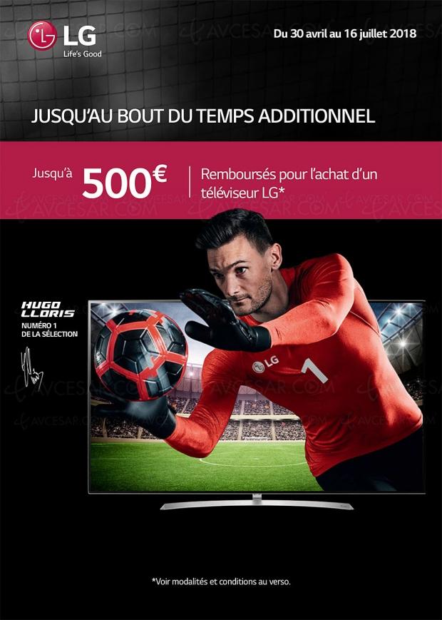 Offre de remboursement Jusqu'au bout du temps additionnel pour TV Oled et TV LED LG, jusqu'à 500 € remboursés