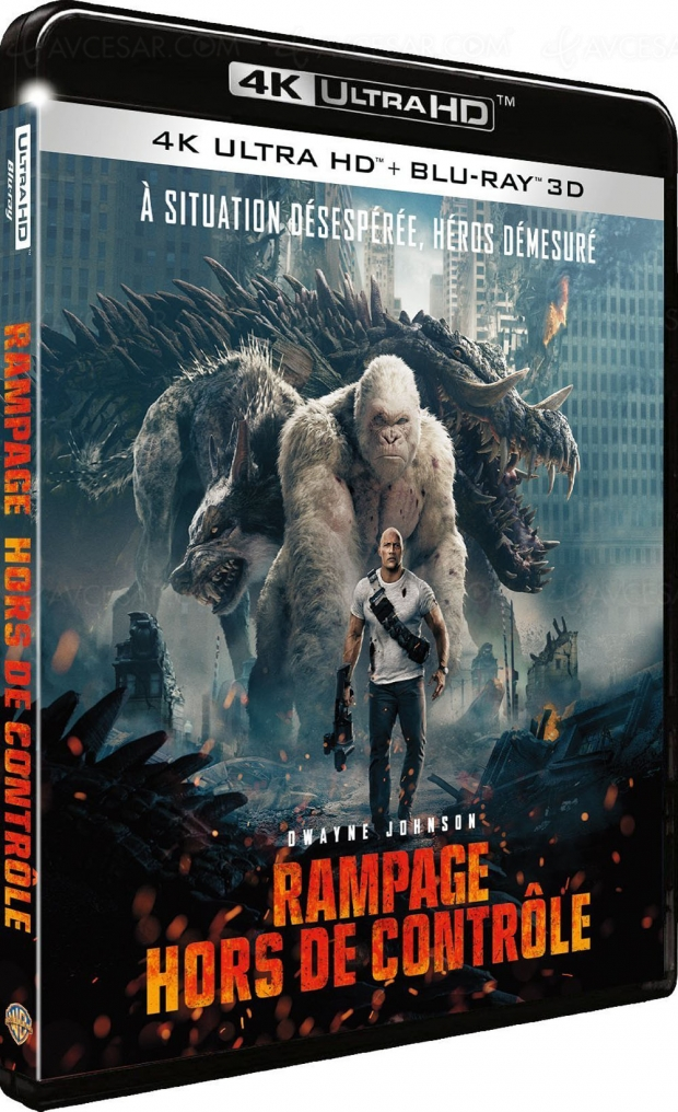 Rampage, The Rock sauve (encore) le monde en 4K Ultra HD Blu‑Ray