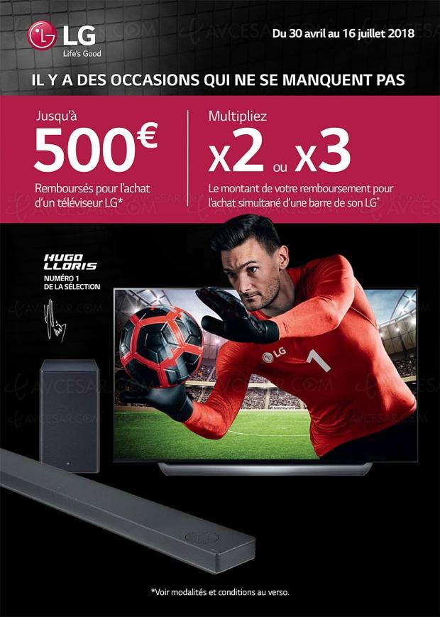 Offre de remboursement Il y a des occasions qui ne se manquent pas pour TV Oled et TV LED LG, jusqu'à 1 500 € remboursés pour l'achat simultané d'une barre sonore