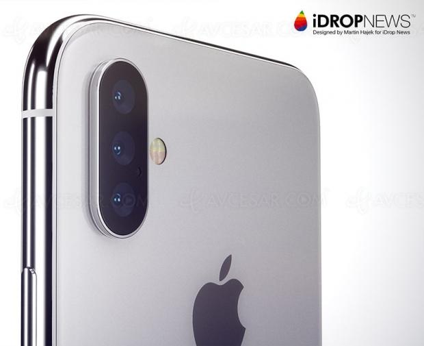 Triple capteur pour iPhone X 2019, ça se précise…