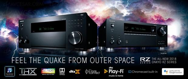 Onkyo TX-RZ830, ampli 9.2, Dolby Atmos, DTS:X, THX Select, HDMI 2.0b, HDCP 2.2, FlareConnect, ChromeCast, DTS Play‑Fi…