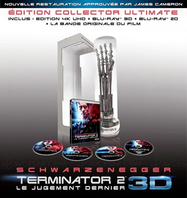 Terminator 2 4K UHD Collector Ultimate limité avec bras de T‑800