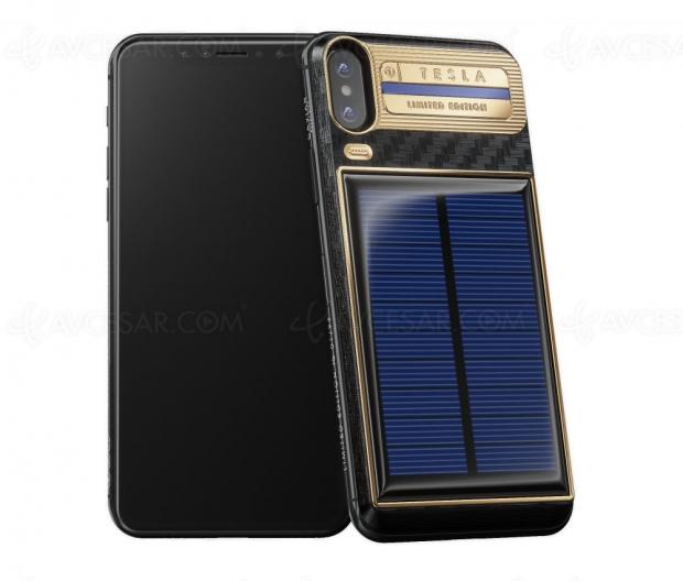 iPhone X Tesla, luxueux et solaire