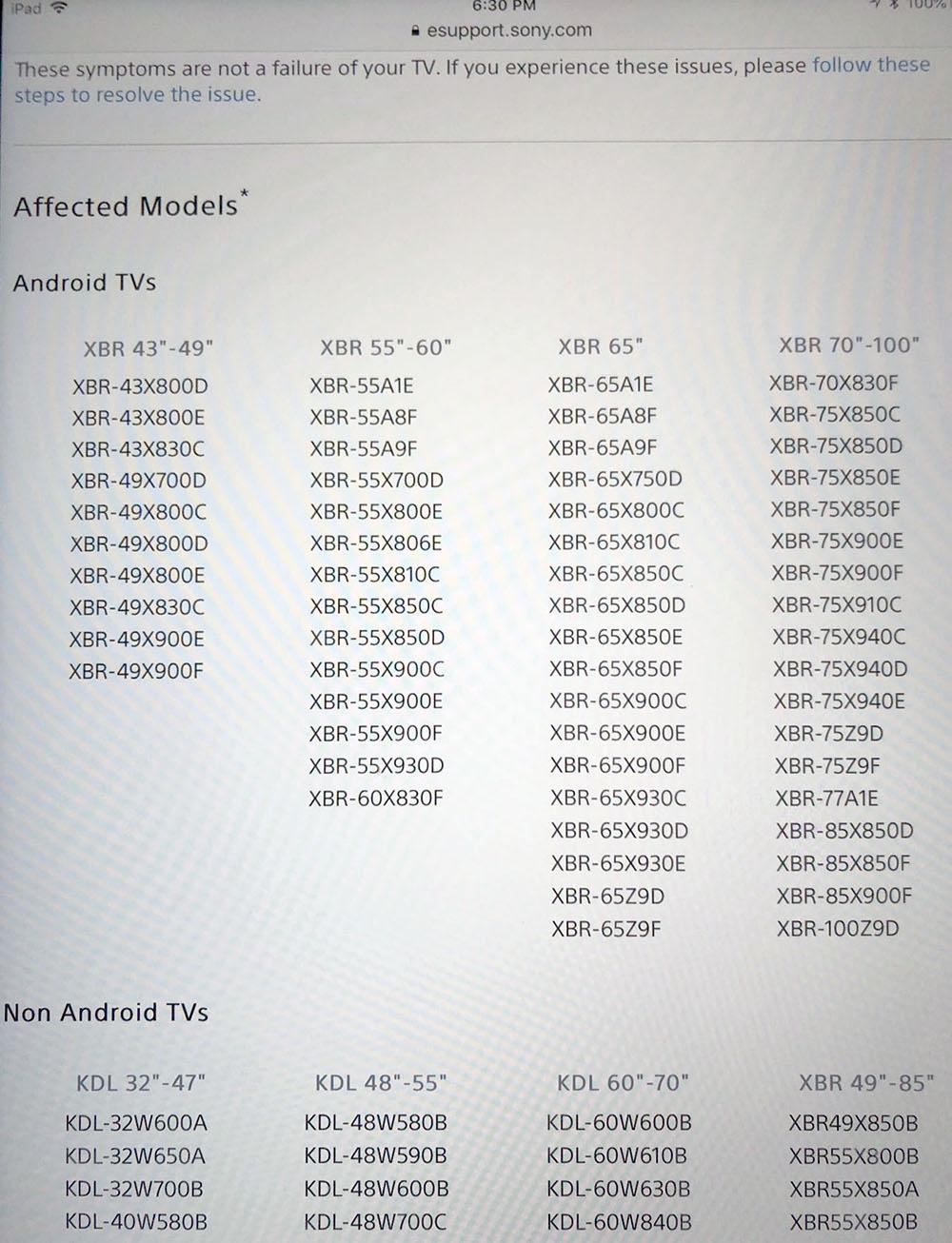 Séries TV Oled Sony AF9 et LED Sony ZF9 présentées au salon IFA de