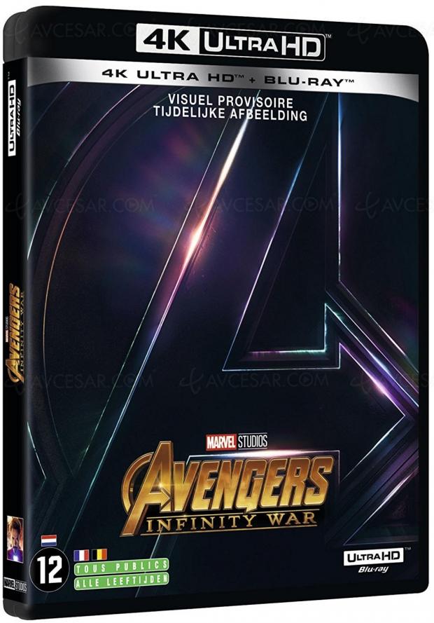 Avengers Infinity War 4K Ultra HD Blu‑Ray, le 31 août en France ?