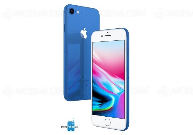 Aperçu des possibles couleurs flashy de l'iPhone8S