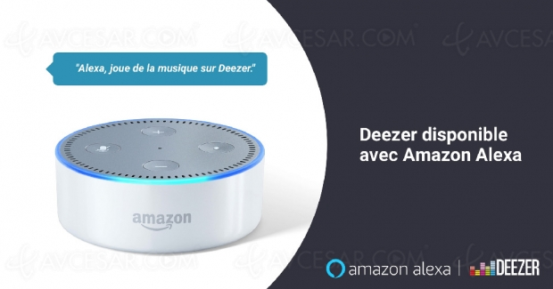 Deezer disponible au sein d'Amazon Alexa