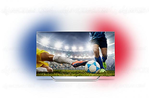 Coupe du Monde de Football Son et Lumière avec le drapeau de votre équipe et les TV Philips Ambilight