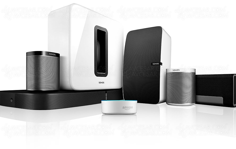 enceintes sonos compatibles avec amazon alexa. Black Bedroom Furniture Sets. Home Design Ideas