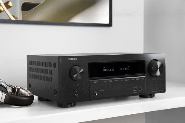 Denon AVR-X2500H, amplificateur 7.2 Bluetooth, HDMI 2.0b, Heos, HDR10, HDCP 2.2, BT.2020…
