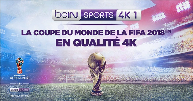 Coupe du Monde de Football en 4K sur beIN Sports 1 4K via Canal+/beIN Sports