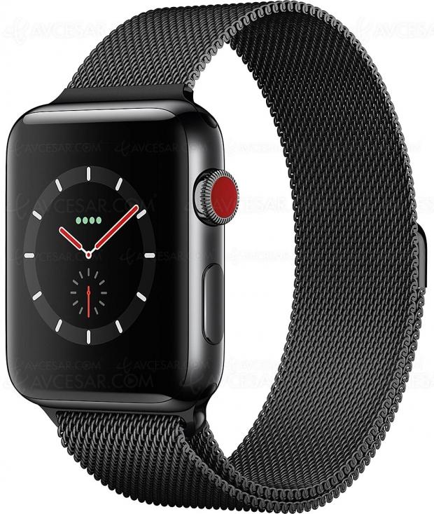 Soldes été 2018, AppleWatch 42mm Alu série3 à398,99€