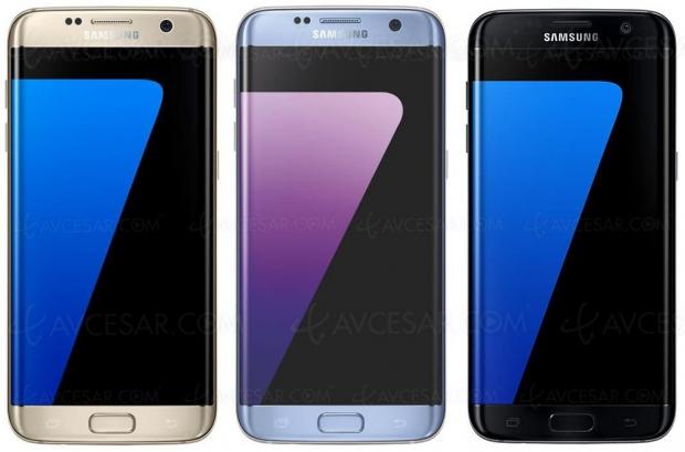 Soldes été 2018, Samsung GalaxyS7 Edgenoir 32Go à299€