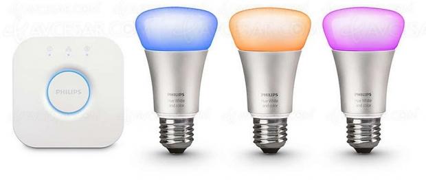 Soldes été 2018, pack 3 ampoules connectées Philips Hue à 99 €, soit 41% de remise