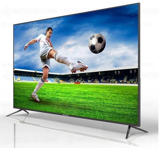 Soldes été 2018, TV LED Ultra HD Brandt B5508 à 399 €, soit 44% de remise