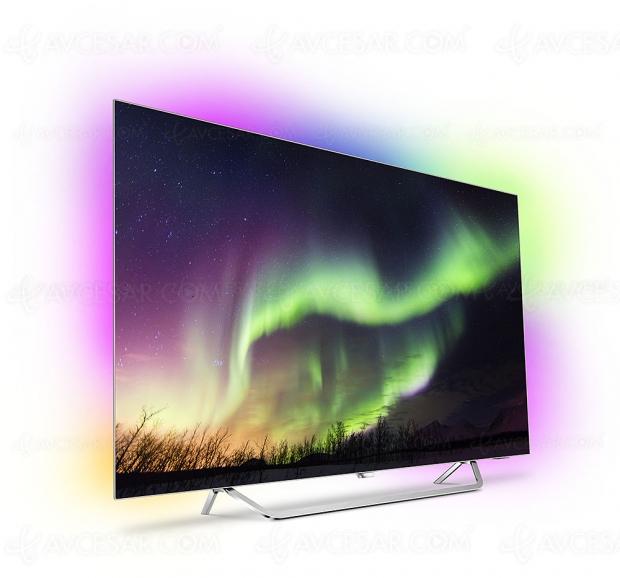 Soldes été 2018, TV Oled Ultra HD Philips 65OLED873 à 2 690 €, soit 800 € de remise