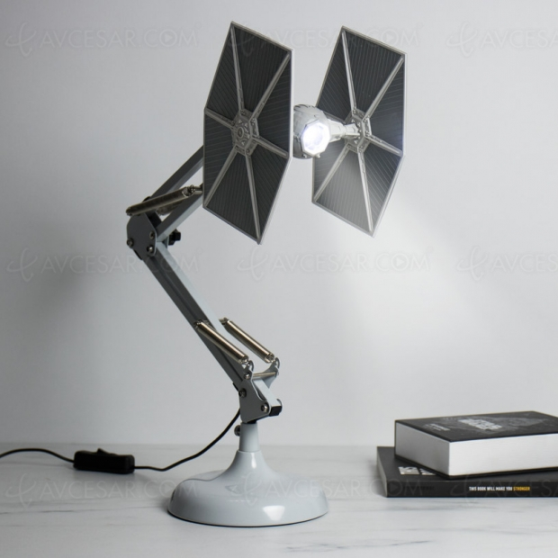 lampe led star wars chasseur tie. Black Bedroom Furniture Sets. Home Design Ideas