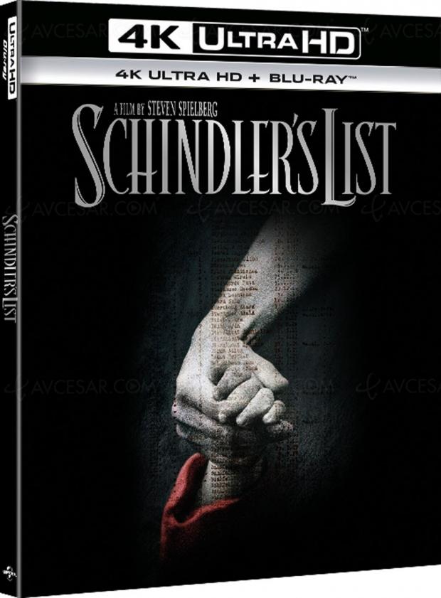 La liste de Schindler en 4K Ultra HD Blu‑Ray en octobre ?