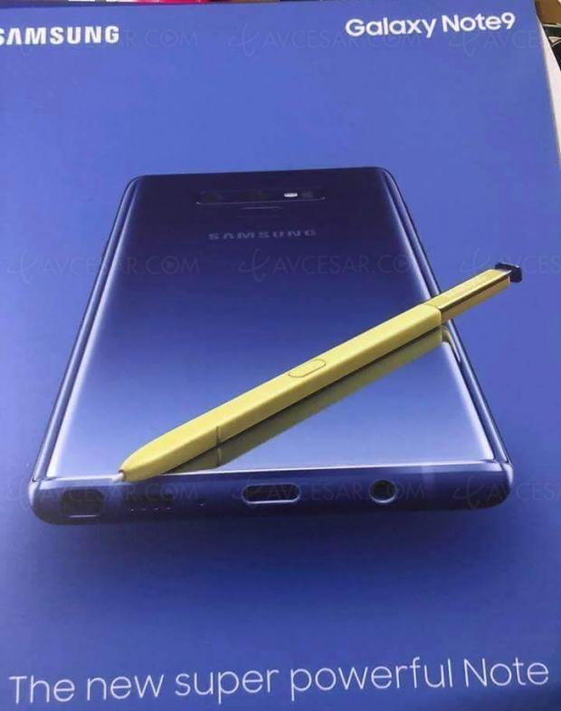 Image officielle « en fuite » pour le Galaxy Note 9