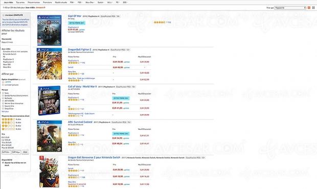 Amazon Prime Day, jeux vidéo PS4, XboxOne, Switch etPC de-29% à-64%