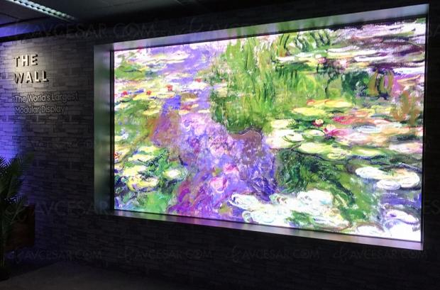 TV micro-LED Samsung TheWall Luxury, un modèle grand public en2019