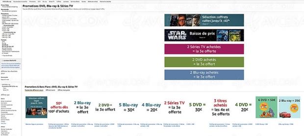 Promos Amazon sur 25103 titres Blu‑Ray/DVD etsériesTV, récapitulatif des meilleures promos dumoment