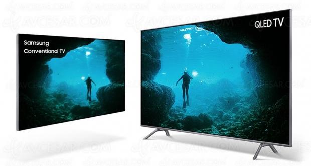 Samsung dévoile sa stratégieTV, basée sur les technologiesQLED etmicro‑LED, pour répondre à lademande croissante d'écrans à ladiagonale de plus en plusgrande