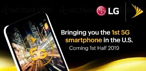 Premier smartphone 5G par LG, début 2019 aux USA