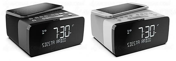 Radio-réveil DAB+ Pure Siesta Charge avec chargeur sans‑fil pour smartphone