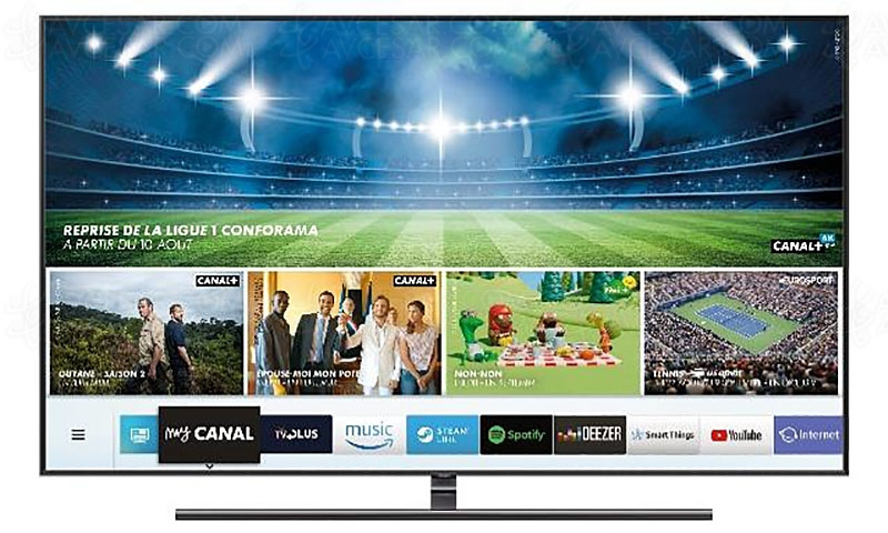 mycanal sur smart tv philips