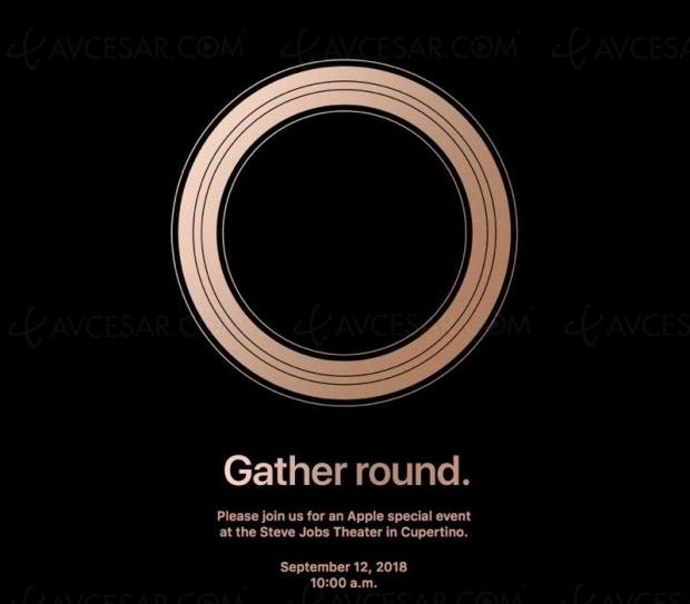 Conférence Apple le 12 septembre, nouveaux iPhone et Apple Watch 4…