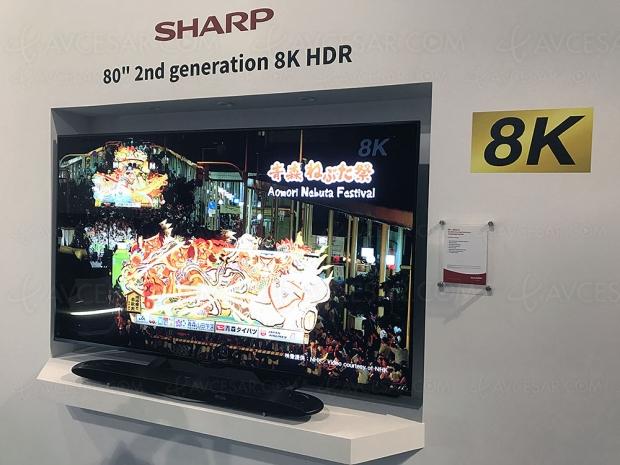 IFA 18 > TV LED 8K 2e génération Sharp, 60''/70'' et 80'' annoncés