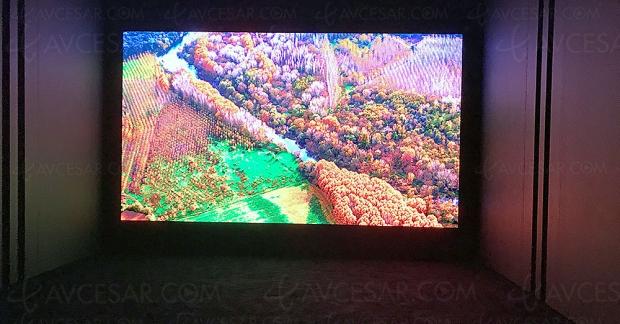 IFA 18 > TV micro‑LED géant LG 173'', démonstration technologique