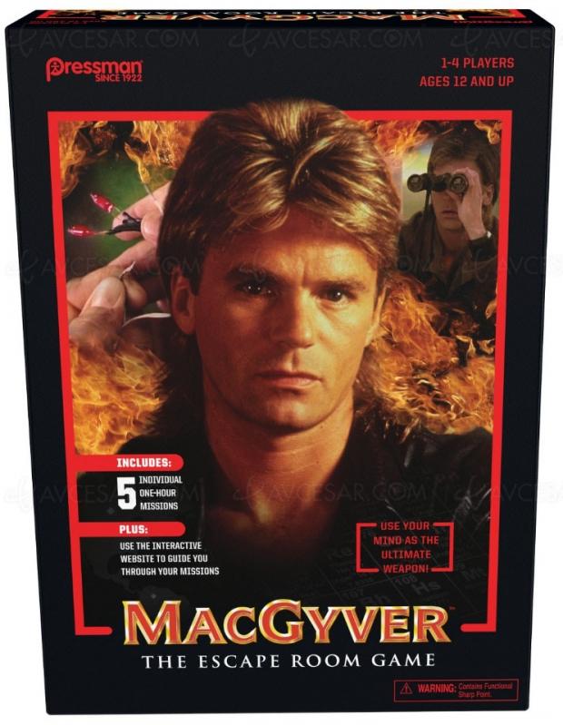MacGyver : jeu de plateau + première saison originale remasterisée en Blu‑Ray