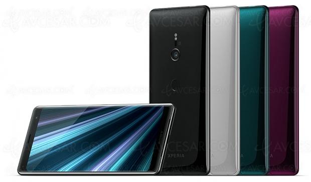 IFA 18 > Sony Xperia XZ3 : écran 6'' Oled, APN 19 Mpxls, caméra 960 i/s, IP68 et Android 9.0 Pie