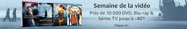 Amazon semaine de la vidéo, 9000BD/DVD et sériesTV à petit prix, jusqu'à-50%