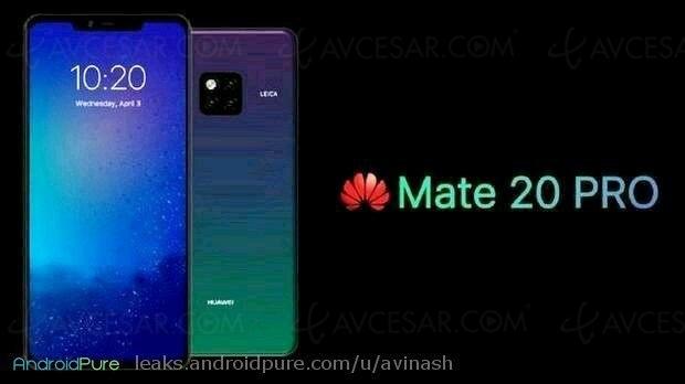 Huawei Mate20 Pro, triple capteur photo dans uncarré…