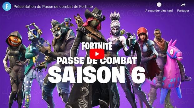Fortnite saison 6 : au cœur des ombres disponible plus un nouveau Passe de Combat