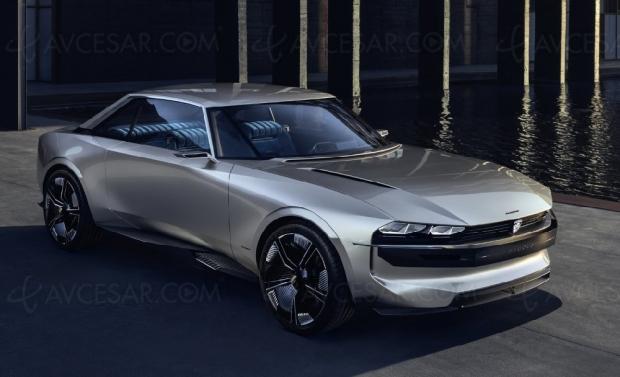 Concept-car Peugeot E‑Legend avec système Hi‑Fi Focal embarqué