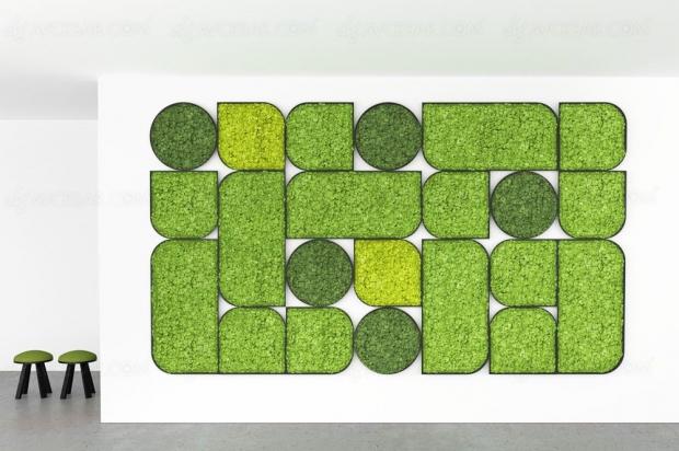 Des panneaux acoustiques en lichen pour réduire le bruit signés Buzzispace