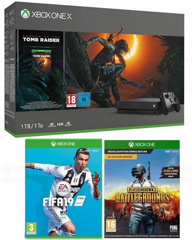 French Days, pack XboxOneS etOneX avec manettes et/ou2 ou3jeux, de-18% à-30% deremise